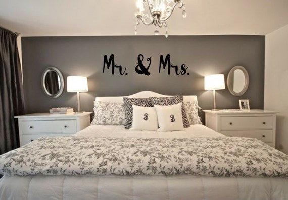 Mr And Mrs Bedroom Decor  from i.etsystatic.com