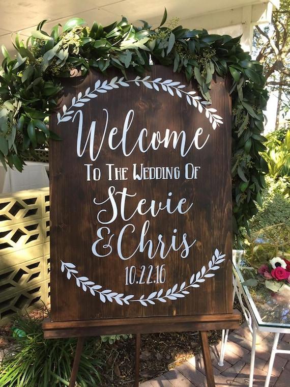 Welcome To The Wedding Of Decal Wedding Decor Wedding