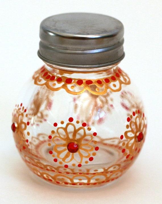 Handpainted Glass Jars Diwali Decor Home Decor Wedding Decor Party