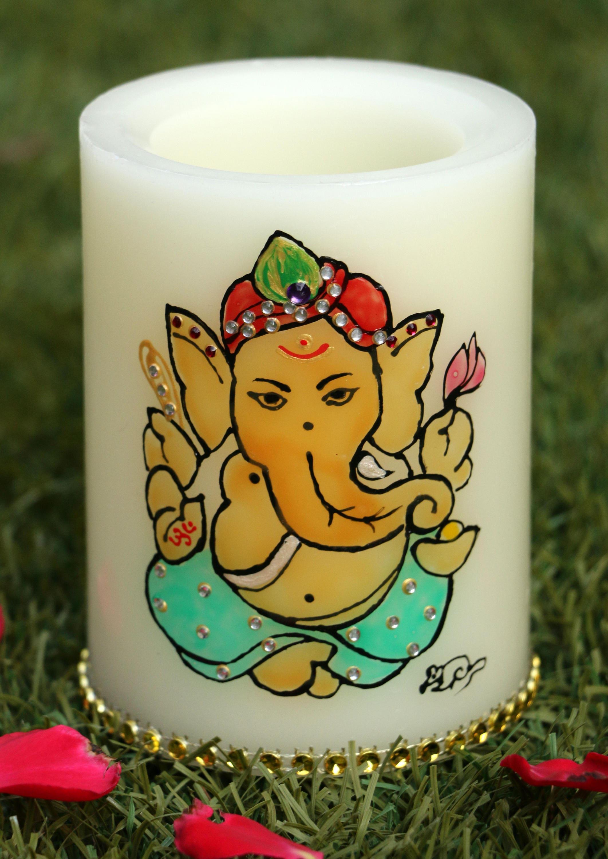 Lord Ganesha Flameless 3x4in Led Wax Candle Ganpati Ganesh Etsy Flickering Flamewax Candleled Electronic Circuit Diwali Indian God Hindu Spiritual Ganapati Vinayak Vinayaka