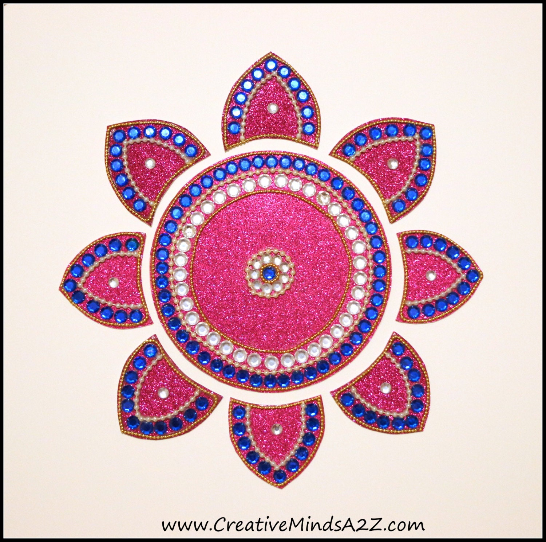 Indian Floor art Rangoli art Mandala Diwali decor | Etsy
