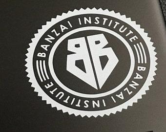 Buckaroo Banzai Vinyl Sticker / Vinyl Decal / Banzai Institute / Laptop Decal / Water Bottle Sticker / Car Decal