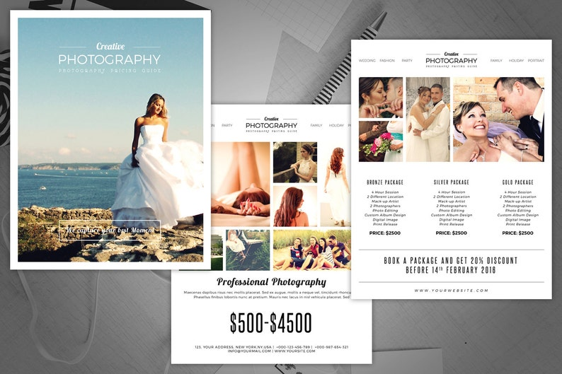 Photography Pricing Guide Flyer | Instant Download Photography Marketing  Flyer
