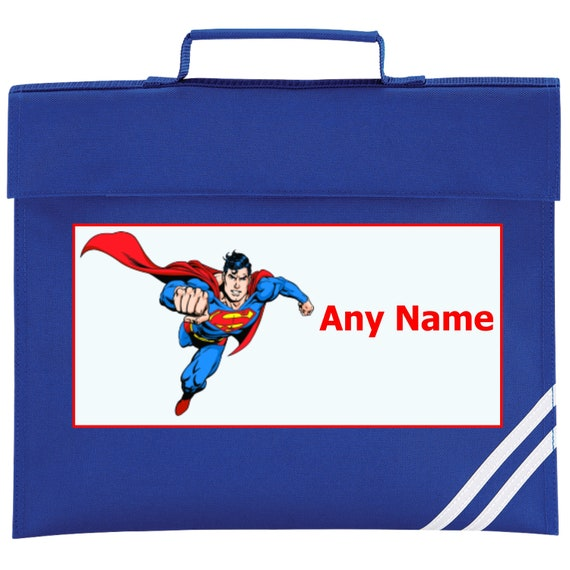 Personalised Superman Super Hero style School Book Bag Choice  f934d1bdd2d68