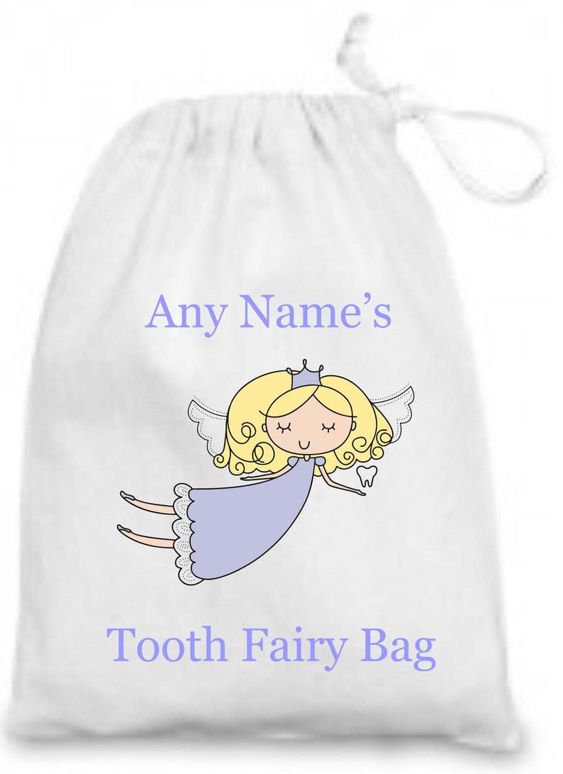 Beautiful Personalised Keepsake Tooth Fairy Bag