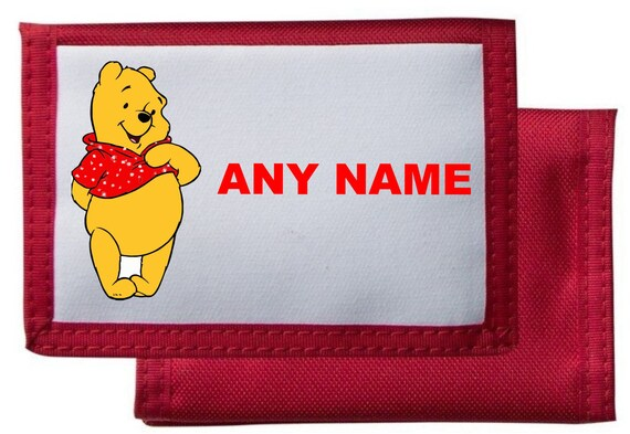 Personalised Winnie The PoohTiggerEeyorePigletRabbit WalletPurse Available In BlackPinkBlueRed