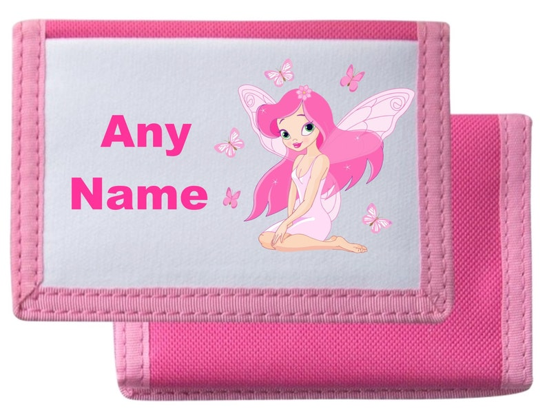 Personalised Fairy PurseWallet Available In BlackPinkBlueRed