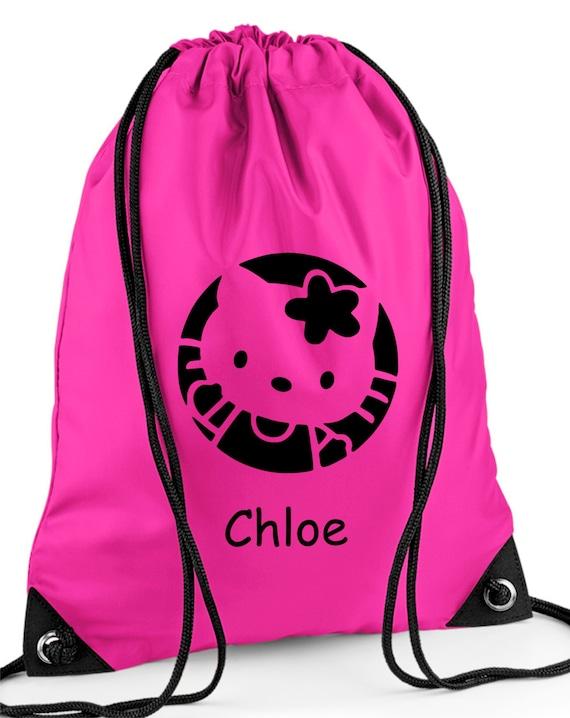 Personalised Hello Kitty Painting School//PE//Gym//Drawstring Bag