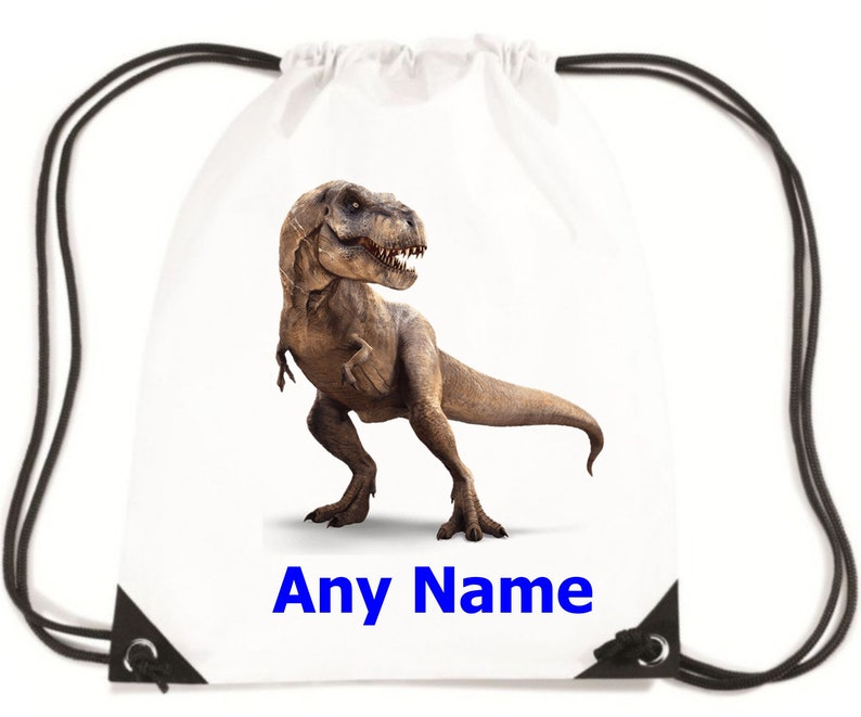 Personalised DinosaurT Rex PESwimSwimmingGymSchool Bag