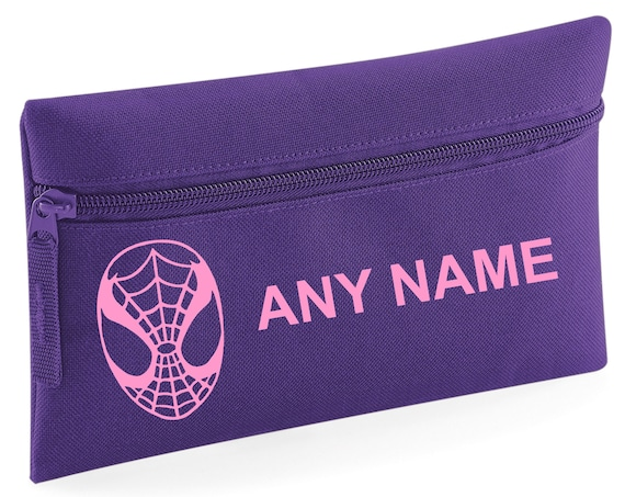 Choice of colours Personalised SPIDERMAN Pencil Case