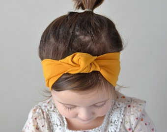 Mustard Yellow Knotted Headwrap