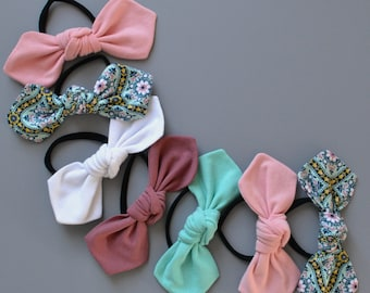 Knotted Bow Hair Tie in 38 Color Options fbc94446129
