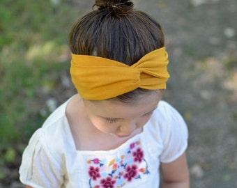 Stretchy Mustard Yellow Turban Headband