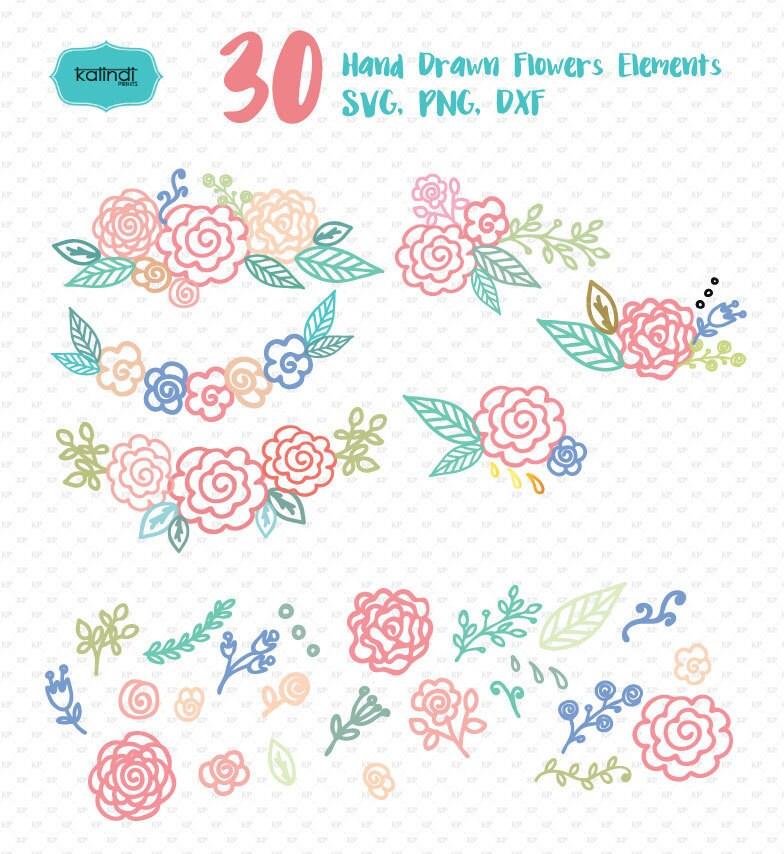 Download Svg file flower svg svg image flower monogram cricut   Etsy