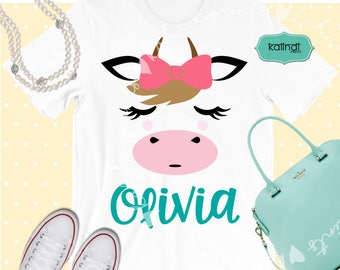 Cow face and tail svg, animal svg, cow svg, cow silhouette, baby svg, girl SVG, animal SVG files, cute SVG   p29
