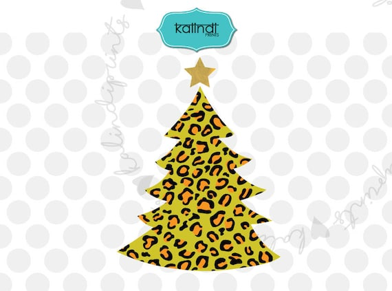 image 0 - Leopard Print Christmas Tree Svg Leopard Christmas Svg Etsy