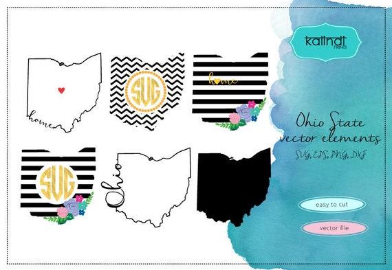 Ohio Svg Ohio Vector File Ohio Svg File Svg Ohio State Etsy