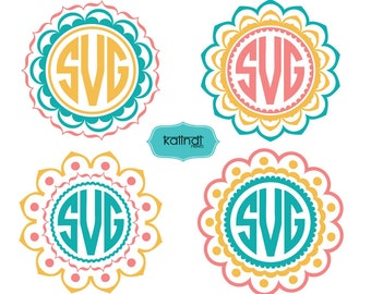Mandala Monogram SVG, 3 colors Mandala svg, svg,Mandala cutfiles,  Mandala Monogram, mandala downloads Id#MM9