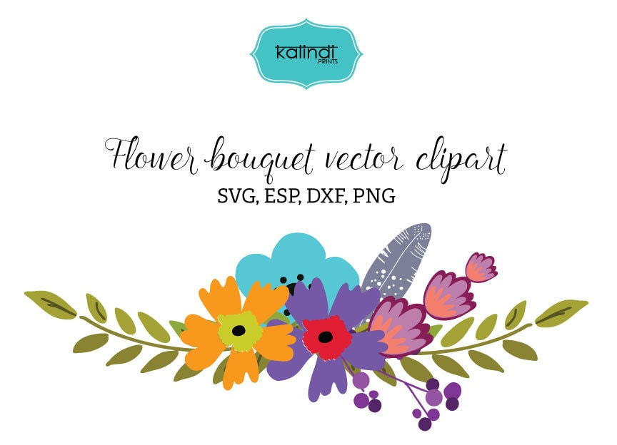 Flower bouquet svg, Flower bouquet clip art, Flower bouquet clipart ...