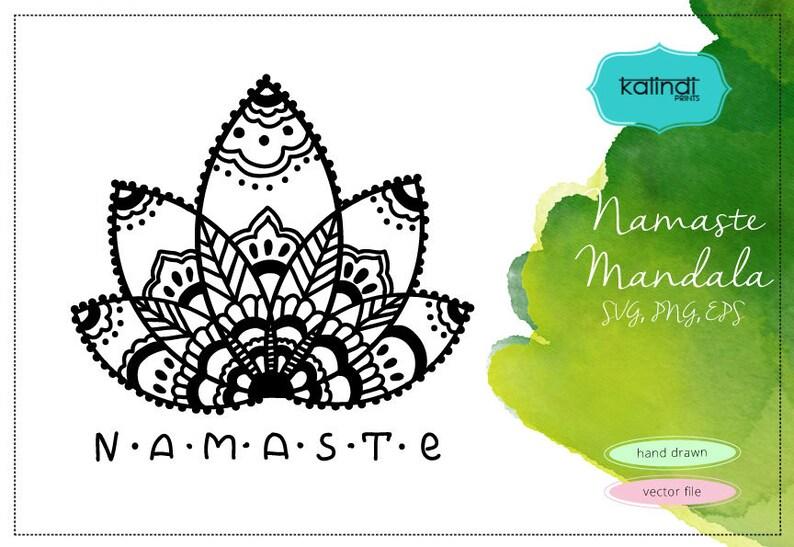 Namaste Mandala svg  Namaste Lotus vector clipart  Yoga svg  Namaste yoga  clipart  Mandala silhouette  Namaste PNG ID# M19