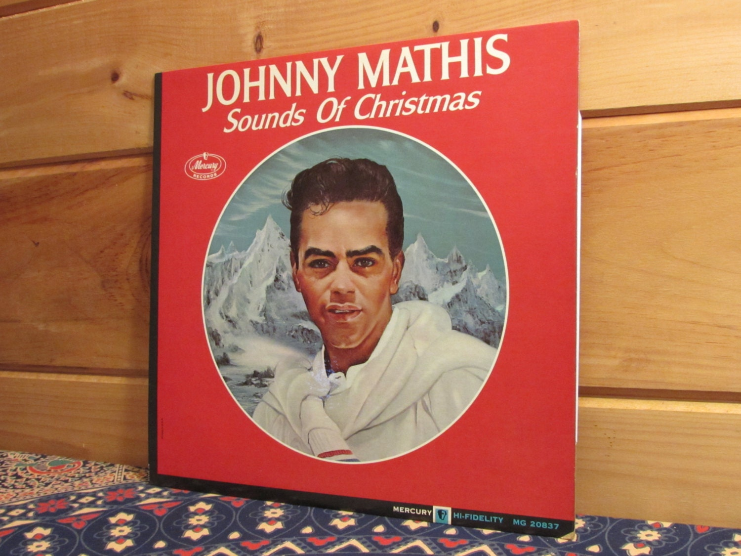 Johnny Mathis Sounds Of Christmas 33 1/3 Vinyl Record | Etsy