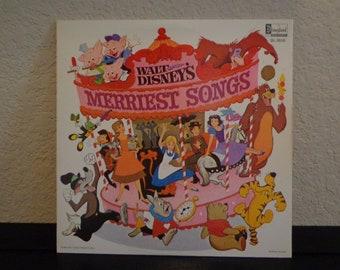Walt Disney's Merriest Songs - 33 1/3 Vinyl Record