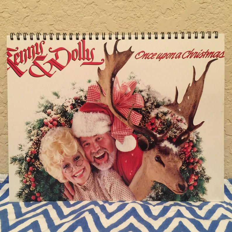 Dolly Parton Christmas Album.Kenny Rogers Dolly Parton Record Cover Notebook