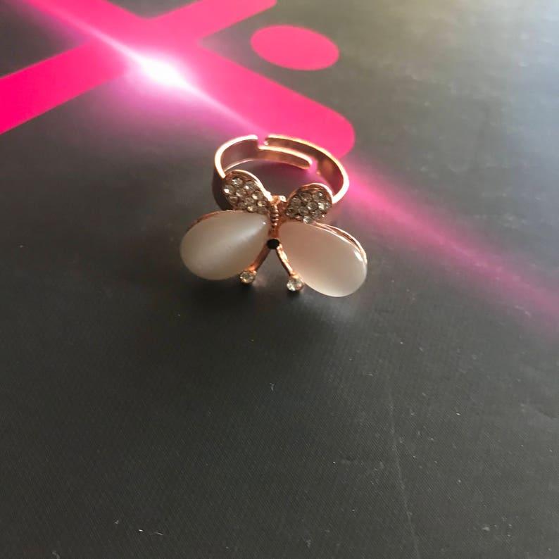Moonstone ring Rose gold ring Adjustable ring free shipping ring White Ring Gold Filled Ring