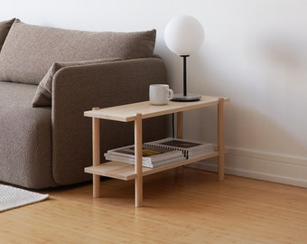 Low Shelving Unit, Wooden Shelving Unit, Modern Shelving Unit, Low Bookcase