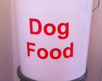 Dog Food Storage Bucket with Scoop