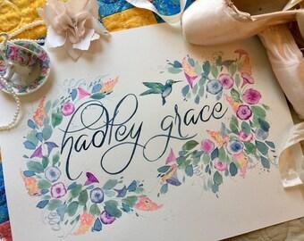 Custom Nursery Name Art
