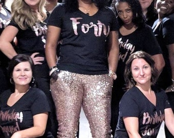 40th Birthday Shirt, 40 Birthday Shirt, 40th Birthday Shirt Women, 40 and Fabulous, Forty Shirt, Adult Birthday Shirt, 40th Birthday Shirts