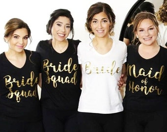 Bride Squad Shirts for Bachelorette Party, Bridesmaid Shirts, Bachelorette Shirts, Bridal Party Shirts, Custom Bridesmaid Shirts