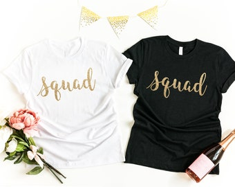 SQUAD Shirts Bride Squad Birthday Shirt