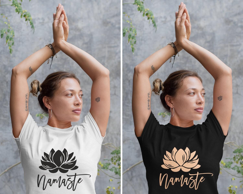 4f6317ac0d Lotus Tshirt, Namaste T Shirt, Flower Yoga Top, Yoga Shirt for Meditation, Yoga  Clothing for Her, Lotus Mudra, Buddhism, Hinduism, Padmasana