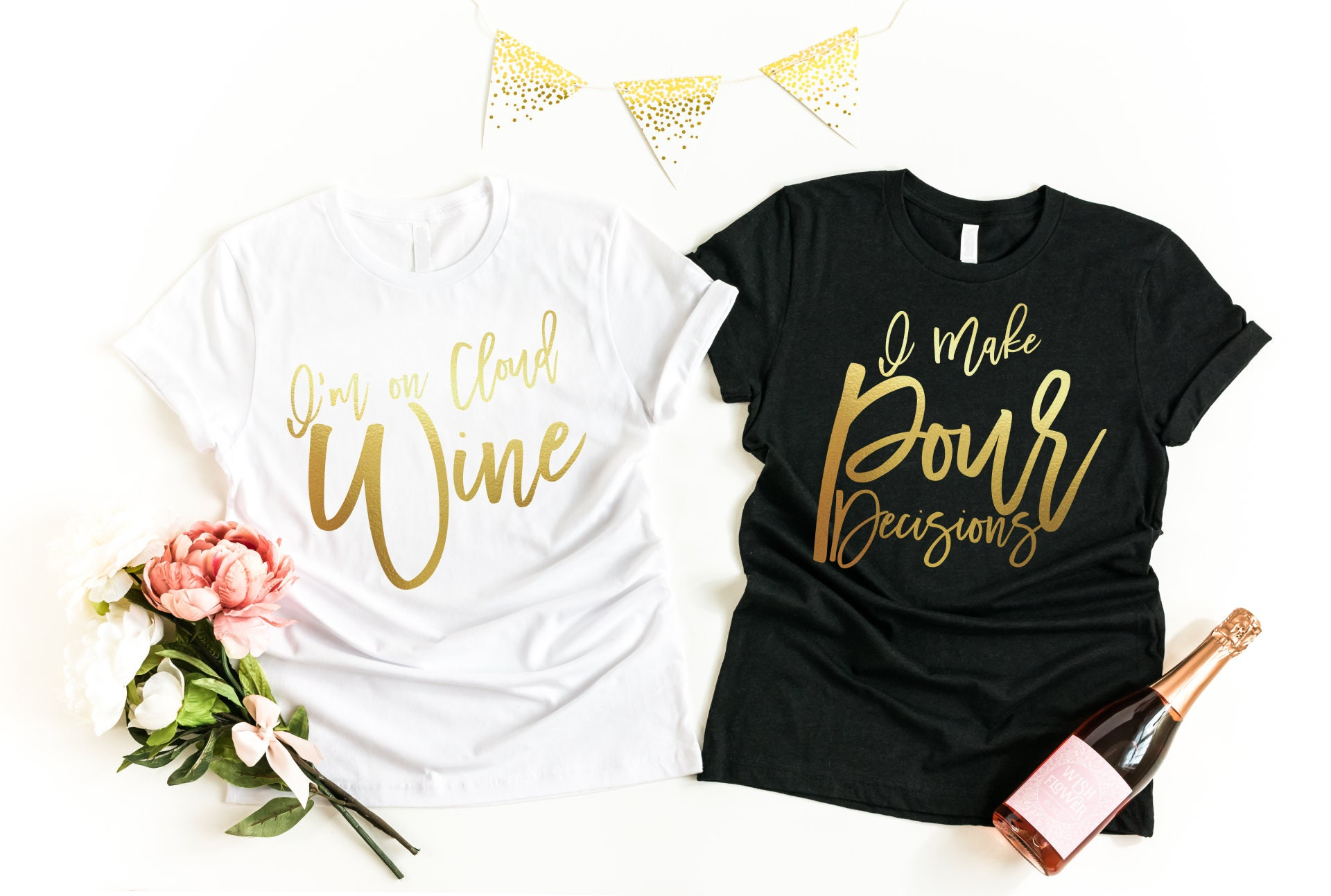 ed703718e Brunch Shirts, Girls' Weekend Shirts, Funny Wine Quotes T-shirts, Wine  Lover T Shirts, Bachelorette Wine Shirts, Free Personalization