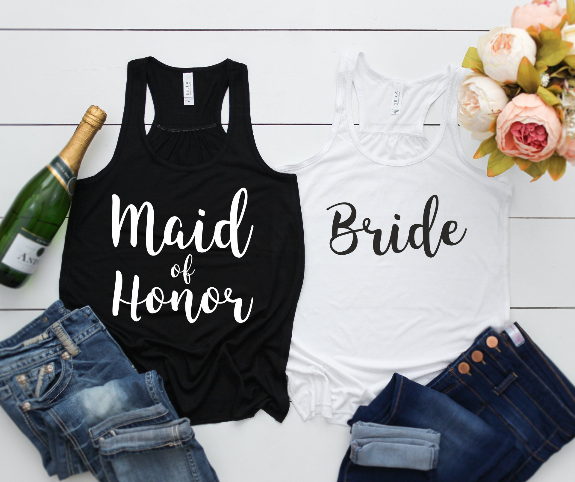 Bridesmaid Tank Tops for Bachelorette Party, Loose and Flowy