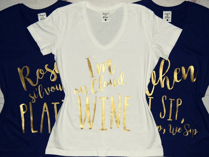 abd428070 Funny Wine Shirts for Brunch or Girls' Weekend: I'm on | Etsy