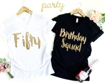 50th Birthday Shirt, 50th Birthday Tshirt, 50th Birthday Shirts, Birthday Squad Shirts, 50th Birthday Gift for Women, 50th Anniversary Gifts