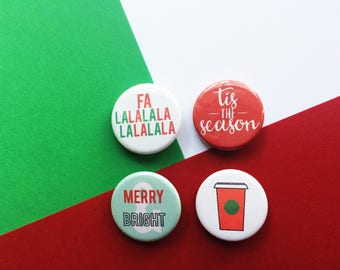 Christmas magnets, holiday magnets, Christmas decorations, stocking stuffer, gifts under 10, festive magnets, cute Christmas decorations