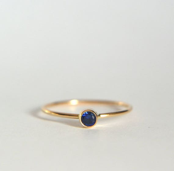 14K Gold Ring Cluster Ring 14K Solid Gold Ring Sapphire Jewelry 14K Solid Gold /& Handmade Natural Sapphire Ring Sapphire Ring