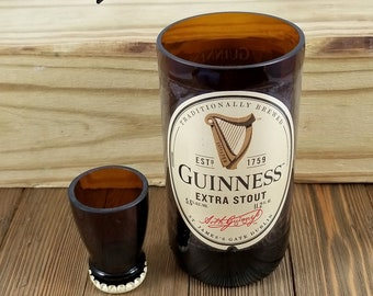 Drinking Set Made From Recycled Guinness Bottles