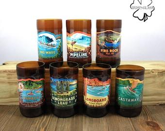 Kona Juice Glasses - Beer Bottle - Tumblers - Cups - Beach - Surf