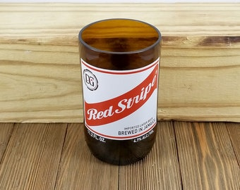Recycled Glasses Made From Red Stripe Beer Bottles