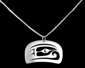 Salmon head pendant - Northwest Coast Sterling Silver