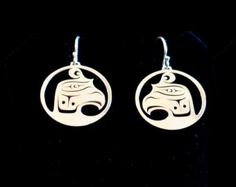 Thunderbird Earrings - Northwest Coast Sterling Silver