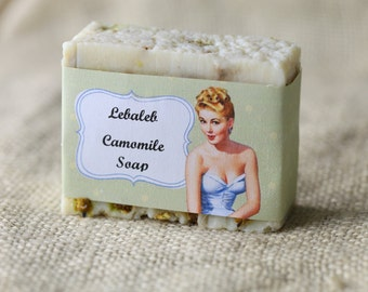 camomile and olive oil soap bar