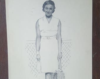 Lady tennis player from 1937