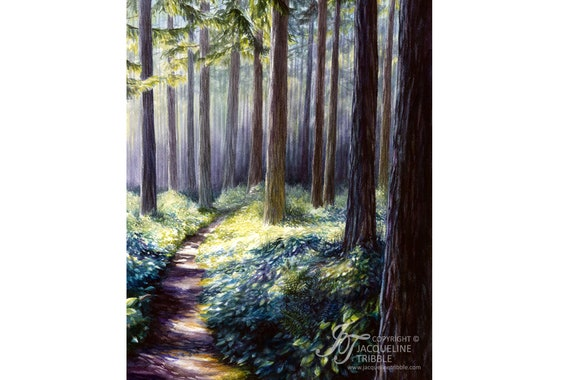 print northwest forest watercolor forest painting etsy print northwest forest watercolor forest painting woodland northwest art pnw jacqueline tribble pacific northwest print