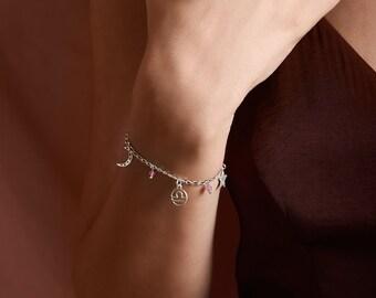 Libra bracelet, Gemstone bracelet, Zodiac sign, Horoscope, Tourmaline bracelet